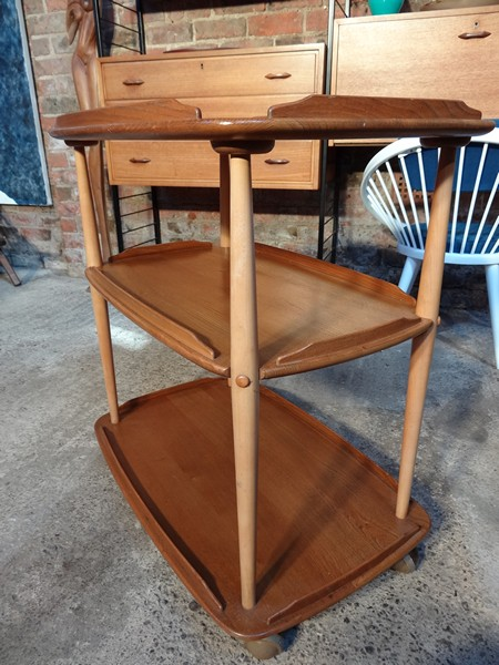 An Ercol buffet and drinks trolley